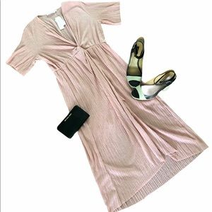 All In Favor  blush dress. Size large